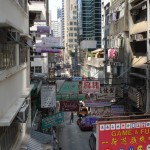 View from the Escalator in Hong Kong
